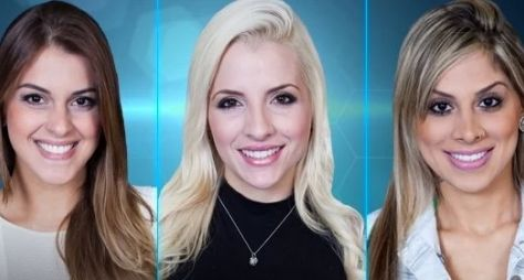 Angela, Clara e Vanessa são as finalistas do Big Brother Brasil 14