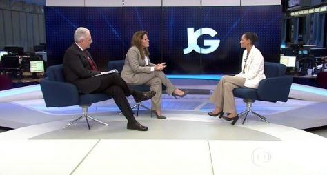 Entrevista com Marina Silva no JG dá mais do que debate no SBT