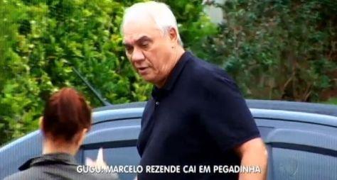 Marcelo Rezende cai em pegadinha armada por Gugu