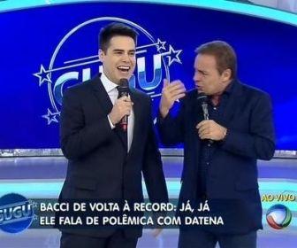 ... muda grade matutina com estreia de Bacci - Bastidores - O Planeta TV