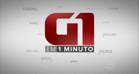 Globo estreia telejornal com apenas 1 minuto de duração