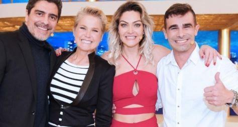 Xuxa Meneghel recebe Roberto Justus e o casal vencedor do Power Couple