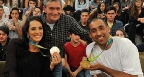 Estrelas dos Jogos Olímpicos Rio 2016 enchem o palco do Altas Horas