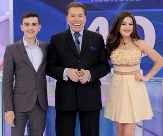 Maísa deixa o palco em gravação com Sílvio Santos e Dudu Camargo