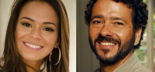 Bruna Marquezine e Marcos Palmeira, os protagonistas de Em Família. Foto: Divulgação