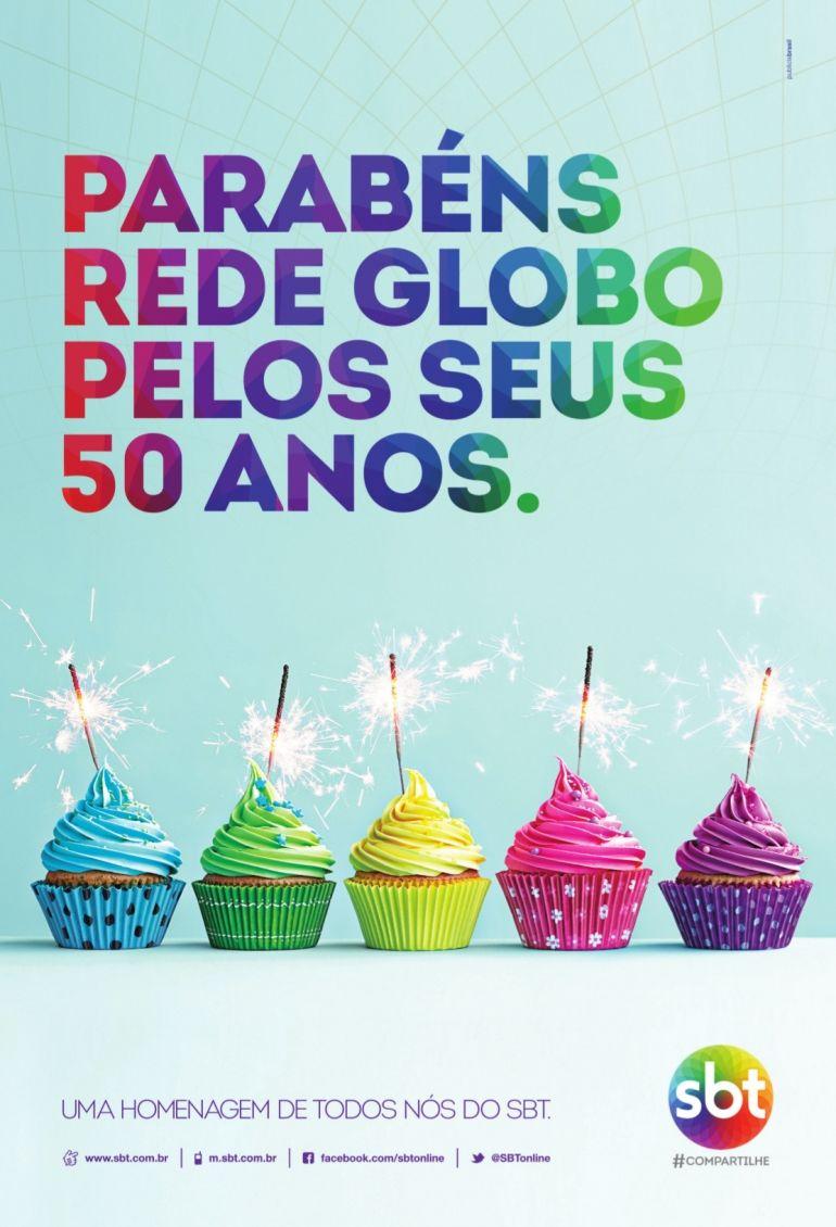 Sbt parabeniza a globo por seus 50 anos bastidores o - Globos 50 anos ...