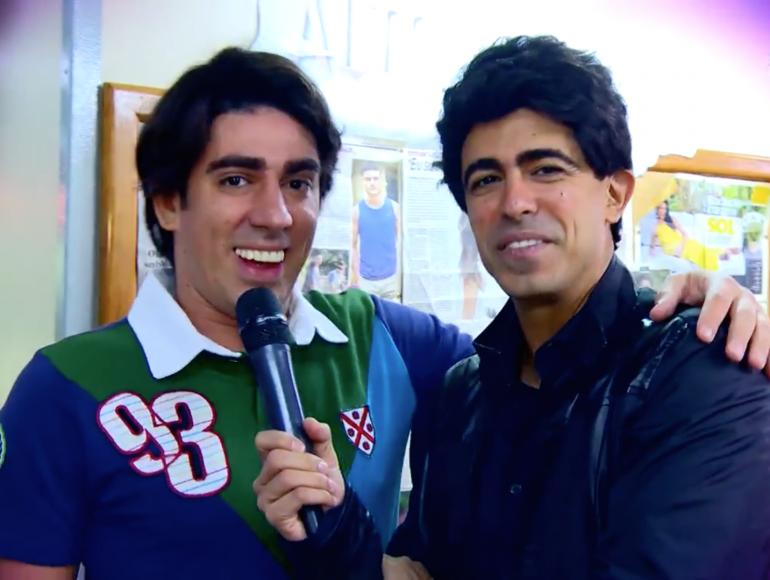 Adnet e Marcius (Foto: Reprodução/TV Globo)