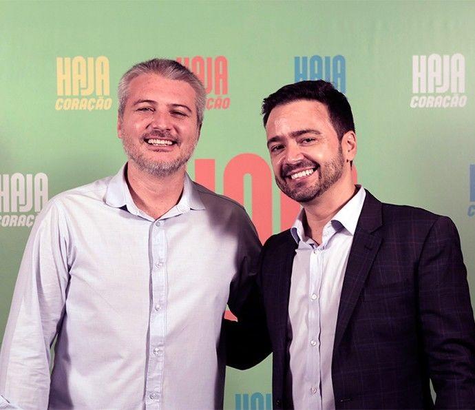 Fred Mayrink e Ortiz, diretor e autor (Foto: Globo/Divulgação)