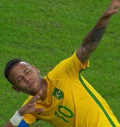 Neymar comemorando gol. Foto: Reprodução
