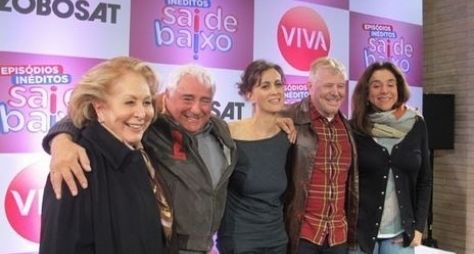 """Em coletiva, elenco apresenta o novo """"Sai de Baixo"""""""