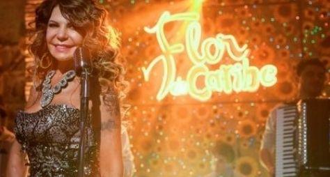 """Elba Ramalho grava cenas em """"Flor do Caribe"""""""