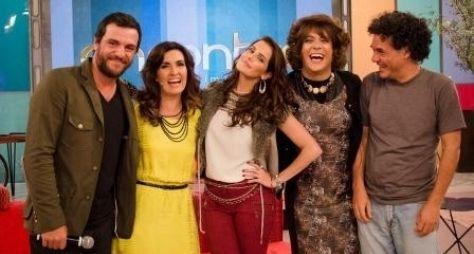 """Fátima Bernardes, Rodrigo Lombardi e Deborah Secco em """"A Grande Família"""""""