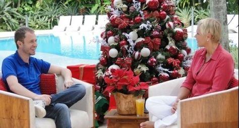 Tiago Leifert grava especial de Natal com Xuxa