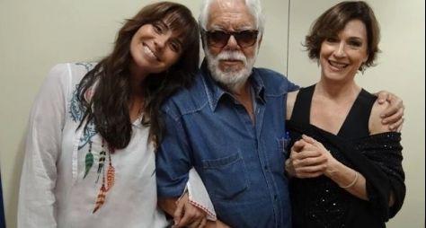 """Manoel Carlos visita estúdios de """"Em Família"""""""