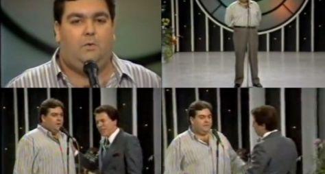 Direto do Túnel do Tempo: Silvio Santos recebe Faustão no Show de Calouros
