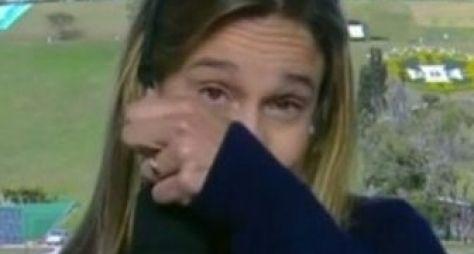 Fernanda Gentil rebate críticas por ter chorado ao vivo