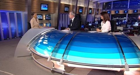 Entrevista de Marina Silva ao Jornal da Record fica em terceiro lugar