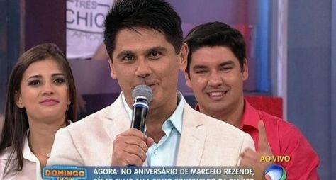 Com Marcelo Rezende e César Filho, Domingo Show é líder na audiência