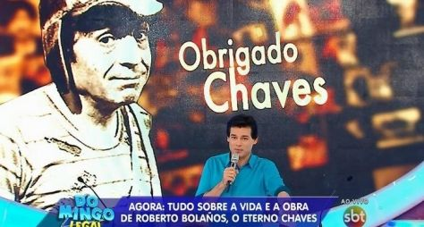 Cobertura da morte do intérprete de Chaves dá vice-liderança ao Domingo Legal
