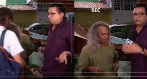 """Geraldo Luís fica nervoso e """"surta"""" ao cair em pegadinha de Gugu"""