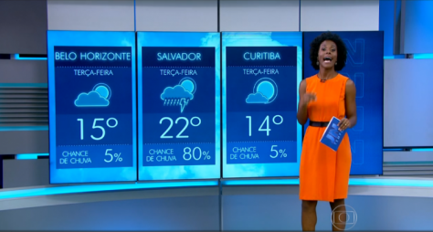 Maria Julia Coutinho chama a atenção como apresentadora do tempo no JN