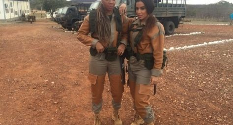 Domingão do Faustão traz Anitta e Ludmilla em treinamento do exército