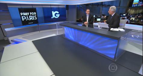 Globo muda grade às pressas para cobertura de atentados em Paris