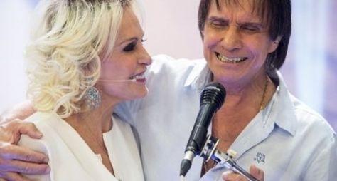 Ana Maria Braga recebe Roberto Carlos no Mais Você