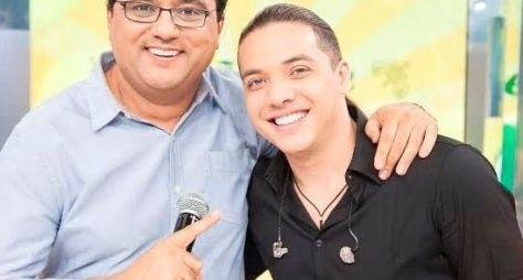 Wesley Safadão canta seus principais sucessos no palco do Domingo Show
