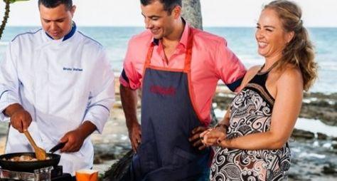 Estrelas: Angélica e Anderson Di Rizzi meditam na Praia de Carneiros