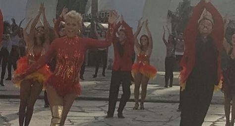 Sensual, Xuxa grava abertura do Dancing Brasil
