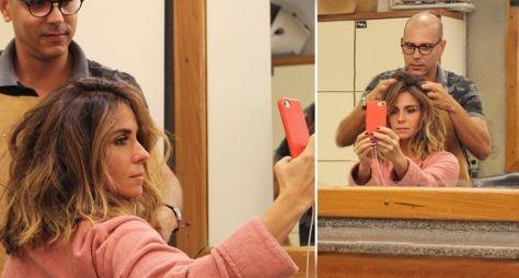 Giovanna Antonelli muda o visual para gravar fim de Sol Nascente