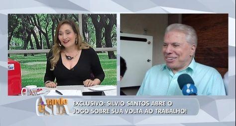 Silvio Santos fala sobre fim das férias no A Tarde é Sua