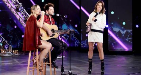 Patricia Abravanel recebe MC Sapão e a dupla Thaeme & Thiago no Máquina da Fama