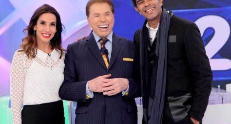 Programa Silvio Santos recebe o casal Tania Kalill e Jairzinho