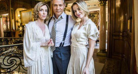 Deborah Evelyn e Barbara França aparecem caracterizadas para Tempo de Amar