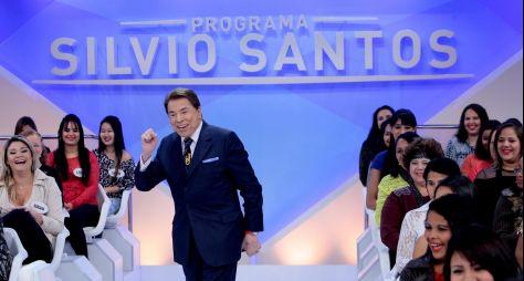 Programa Silvio Santos alcança dois dígitos e garante o 2º lugar