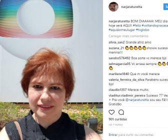 Narjara Turetta comemora volta à TV em O Outro Lado do Paraíso