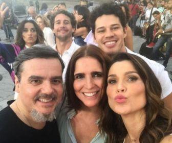 Elenco da Globo grava chamadas de fim de ano
