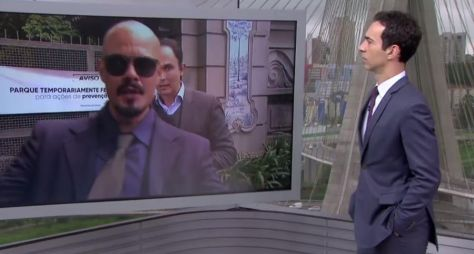 Homem invade link do SP1 para agredir a Globo