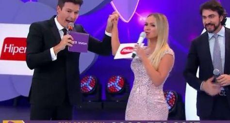 Eliana e Rodrigo Faro dividem palco do Teleton