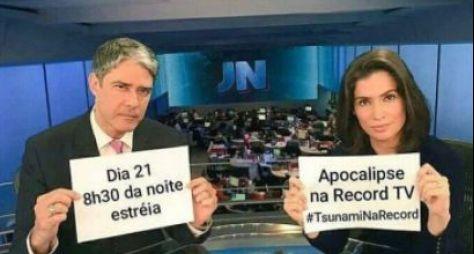 Meme com jornalistas da Globo divulga novela da Record TV