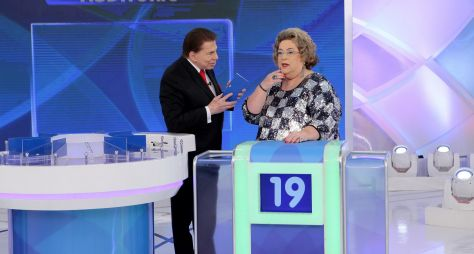 Programa Silvio Santos recebe Milene Domingues e Mamma Bruschetta