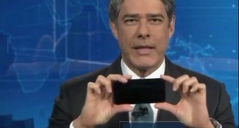 No JN, Bonner ensina a filmar com o celular e repercute nas redes sociais