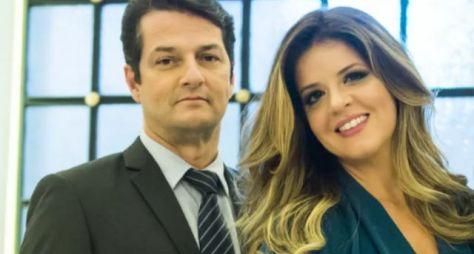 Mariana Santos e Marcelo Serrado apresentam projeto à direção do GNT