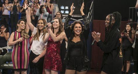 No Altas Horas, Serginho inicia 2018 ao lado de um time feminino poderoso