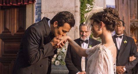 Tempo de Amar: Maria Vitória e Vicente se casam no civil e no religioso