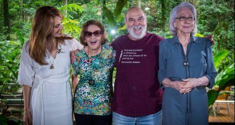 Laura Cardoso, Fernanda Montenegro e Lima Duarte juntos no Fantástico