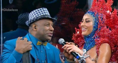Carnaval: Sabrina Sato vai ao estúdio de vidro da Globo
