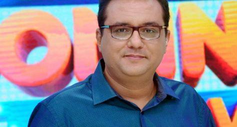 Geraldo Luís grava entrevista com Naldo e Mulher Moranguinho